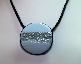Small lace and sky blue pendant