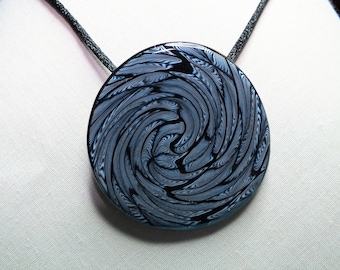 Swirl and spiral necklace