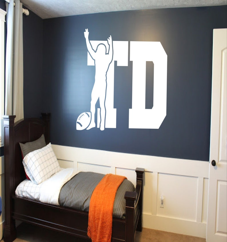 Touchdown! Football Wall Decal - boys room decor, football decal, TD wall  decal, sports wall decor, football decals, football wall decals