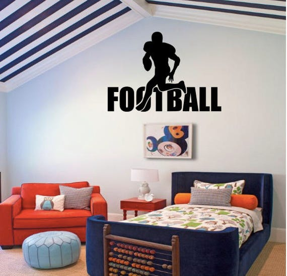 Large Football decal - boys room decor, football decal, Football decor,  football decals, football wall decals
