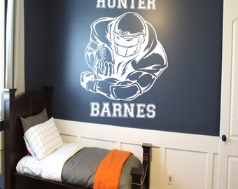 Football Laces and Stripes Wall Decal boys room decor