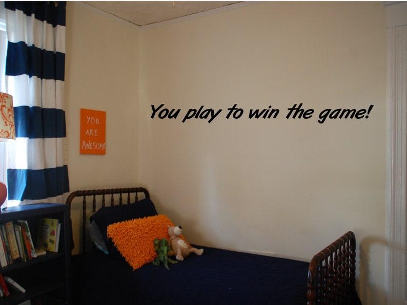 Sportcitaten : Je speelt om te winnen het spel muur sticker. herm edwards etsy