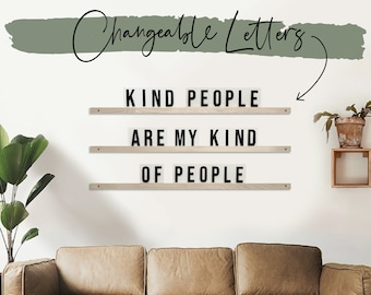 Letter Ledges - Letter Board - Marquee Sign -  Quote Wall -  Quote Sign - Changeable Letters - White Letters - Interchangeable Letters