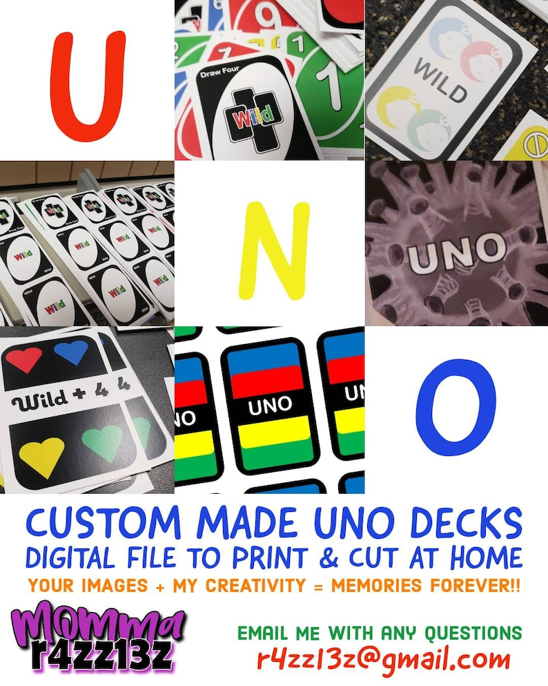 custom uno cards digital download deck playing cards