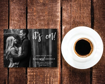 Black & White Photography Wedding Save the Date