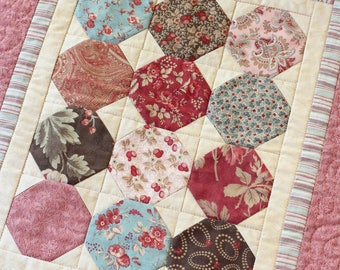 Octagon Piecework Small Quilt