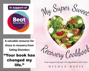 Anorexia Recovery Cookbook, My Super Sweet Recovery Cookbook, Eating Disorder Recovery, Bulimia Recovery, Mental Health Gift, Healthy Eating