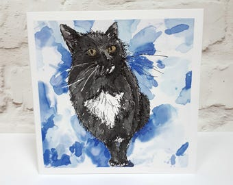 Black Cat Card Lovers Gifts For Kitten Birthday Cats Greeting Themed Cards Her