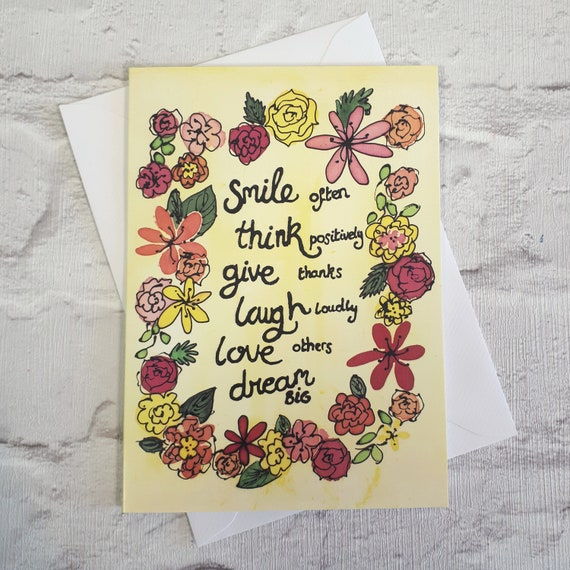 Motivational Quotes Card ~ Get Well Soon Card, Inspirational Card, Positive  Sayings, Mental Health Gifts, Cute Quotes Card, Cards for Girls