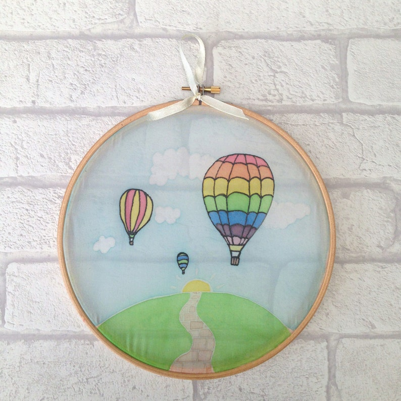 Ballon Wall Decor Hot Air Balloon Art Nursery Wall Art Hot Etsy