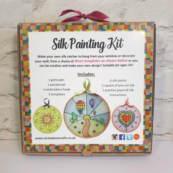Silk Painting Kit Adults Craft Kits Childrens Craft Kit Diy Craft Set Childrens Painting Set Christmas Craft Kit Make It Yourself Kit
