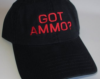 Custom embroidered hats / caps, GOT AMMO?