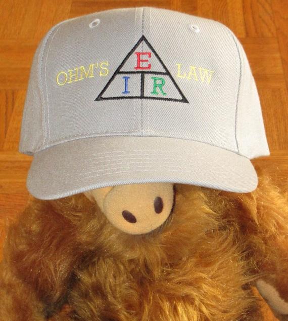 Custom embroidered hats   caps Ohm s Law   Ham Radio Cap  1231d7a44cbc