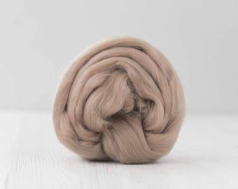 Merino silk roving, Earth, 100 grams/3.5 oz