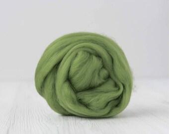 Merino silk roving, Leaf, 100 grams/3.5 oz