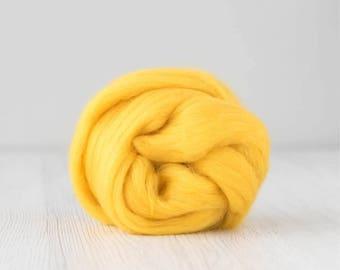 Merino silk roving, Yolk, 100 grams/3.5 oz
