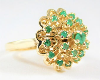 Vintage Ladies' Emerald Dome Ring
