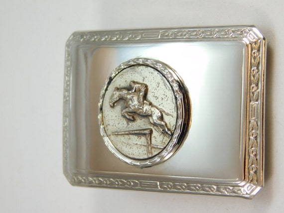 Silver Buckle for the Equestrian
