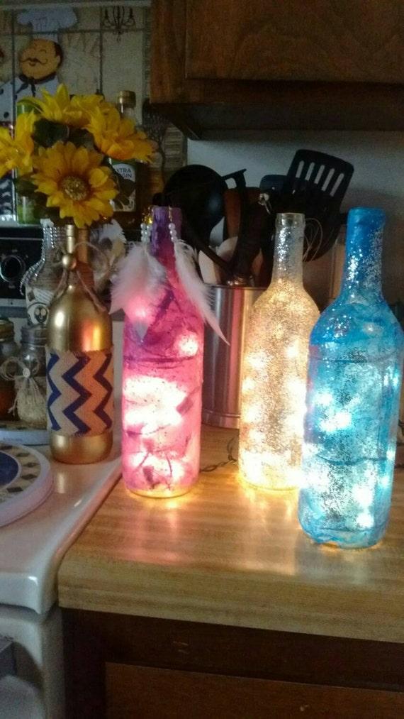 image 0 Glitter Light Wine Bottle Accent