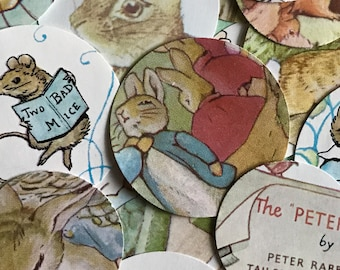 Beatrix Potter Confetti Storybook Baby Shower Peter Rabbit  Birthday Party Decor Table Scatter Squirrel Nutkin Children's Book