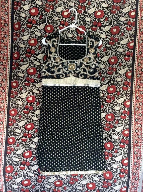 Indian Boho Tunic Dress with Embroidery & Beading