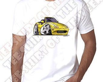 MX5 Mazda Never Underestimate An Old Man With an MX 5 t shirt Silver Logo to 5XL