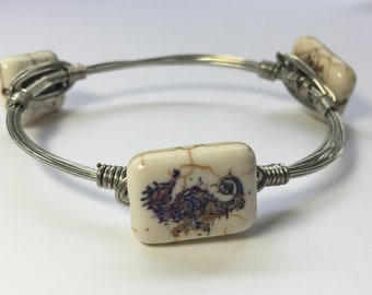 Seahorse wire wrapped bracelet