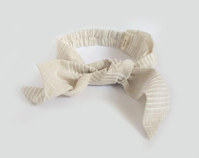 Veranera headband, Pearl , Twist Headband, Linen headband, New,  Linen, twist knot headband