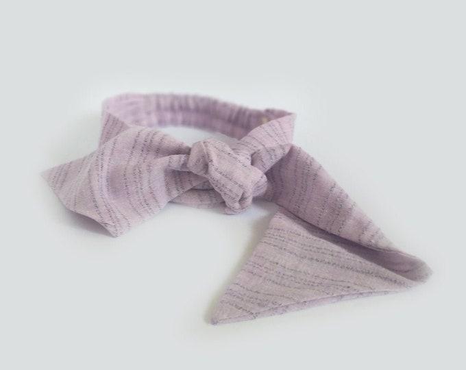 Veranera headband, Lilac , Twist Headband, Linen headband, New,  Linen, twist knot headband