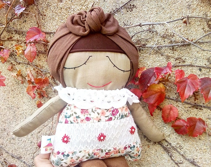 Doll, Fabric Doll, Soft homemade toys, Girl Nursery, Rag Doll, Nursery Decor, Handmade Doll, Cloth Doll, Mini Miranda