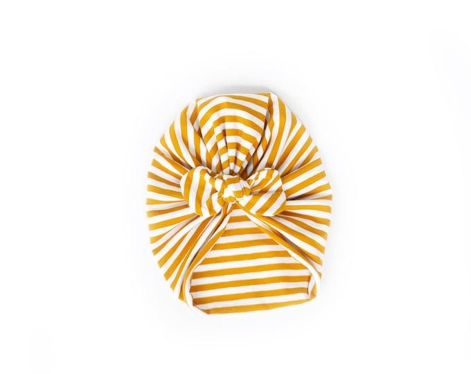 NEW- Bow Turban- baby bow turban- turban- Bow Headband Hat- baby turban- Newborn hat -toddler turban -striped bow turban - turban bébé