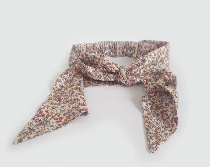 Veranera headband, Floral , Twist Headband, Linen headband, New,  Linen, twist knot headband