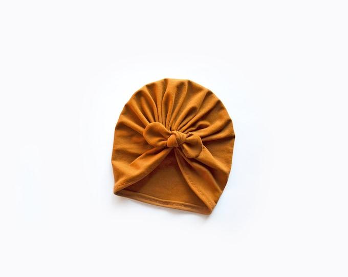 New, Bow Turban, baby bow turban, turban, Bow Headband Hat, baby turban, Newborn hat, toddler turban, Copper