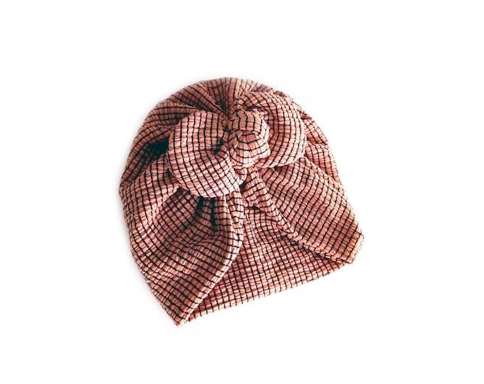NEW, Bow Turban, baby bow turban, turban, Bow Headband Hat, baby turban, Newborn hat, toddler turban, Pink Turban, Pink