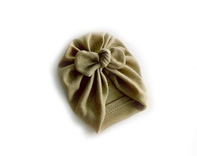 Organic cotton, BIO, New, Bow Turban,  New  Born  bow turban, turban, Bow Headband Hat, baby turban, Newborn hat, turban bébé, Green