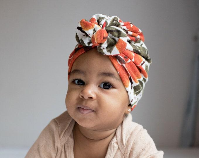 Carmen - Winter Turban-  Bow Turban - turban- Bow Headband Hat- baby turban- Newborn hat -toddler turban -flower turban - turban bébé