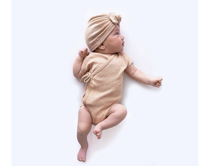 Pack New born Kimono /Turban, Raw Kimono, Adriana Turban, Body, Organic cotton, BIO, Turban, New Born Kimono