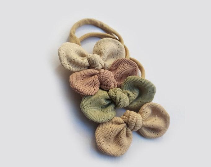 Botanical headbands pack -  Natural Dye - Natural colour- ecodye - Botanical Bows