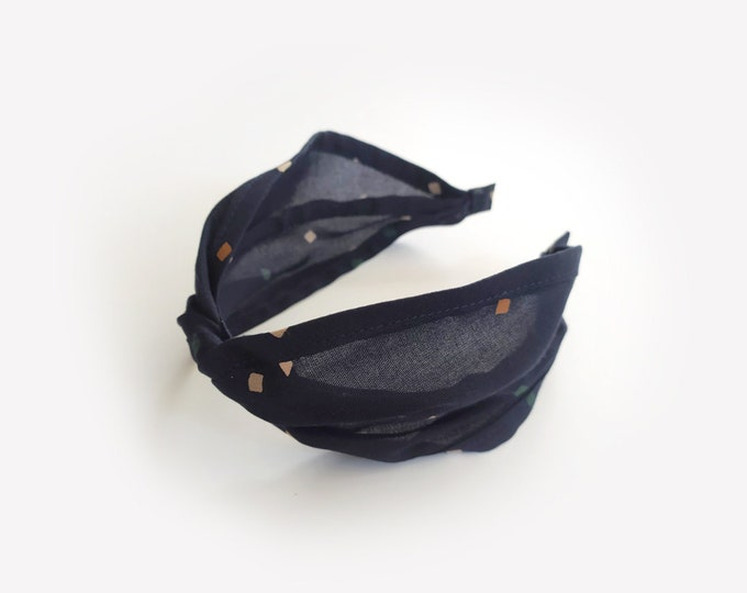 NEW, Dark Blue Headband, headpiece, Women Headband, Blue, Hair accessory