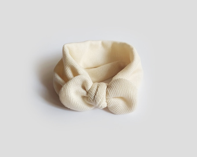 Gaia headband, Autumn, Winter Turban, headband, baby bow turban, turban, Bow Headband, baby turban, Newborn hat, toddler turban, tricot, Raw