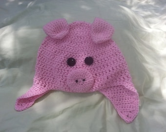 Pink Pig Hat toddler/child size