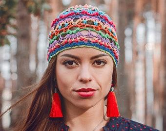 eede98e6c2d46 Crochet Hat Pattern PDF - Written and Graph Pattern Beanie - How To Crochet  hat Pattern - Multicolor Womens Hat Pattern Merry Carousel