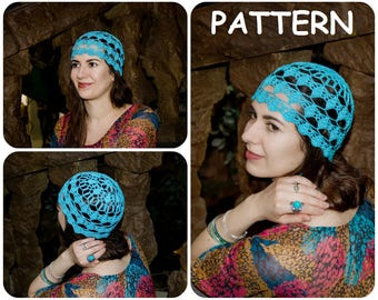 Graph Crochet Hat Pattern PDF - Women s