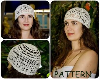 Sun Hat Pattern - Retro Hat Crochet Pattern - Lace Crochet Pattern - Crochet  Vintage Hat Pattern For Summer - DIY Women s Hat Pattern Graph 8897dfee34f