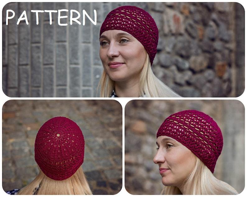 368fa1bd1c7 Crochet Hat Written Pattern Lace Hat For Women Crochet Graph