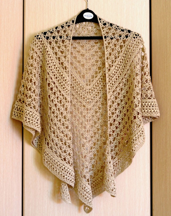 Crochet Shawl Pattern Rings Of Lace Shawl Written Pattern Etsy