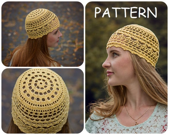 Summer Crochet Beanie Pattern Diy Crochet Hat For Women Etsy