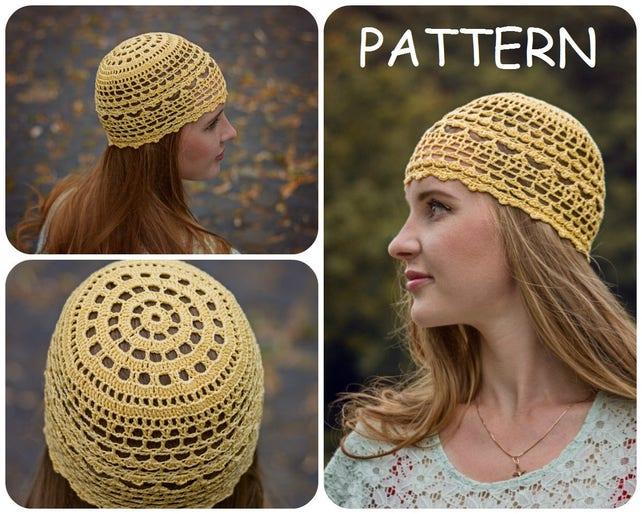 Summer Crochet Beanie Pattern Diy Crochet Hat For Women Etsy
