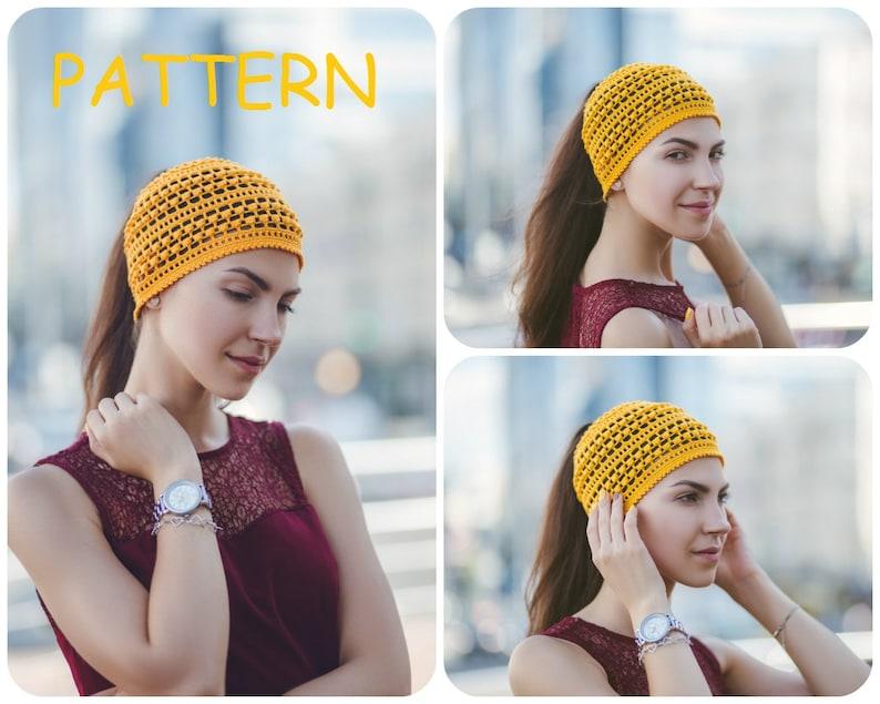 789a5c156f527 Ponytail Crochet Hat Pattern Summer Yoga Crochet Beanie
