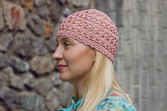 Abendkleid-Hut für Frauen Spitze Baumwolle Ash Rose häkeln | Etsy